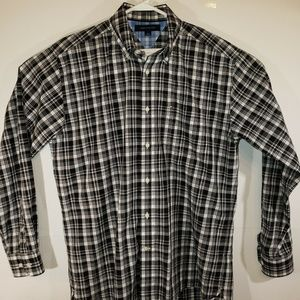 Tommy Hilfiger Mens Black Plaid Shirt
